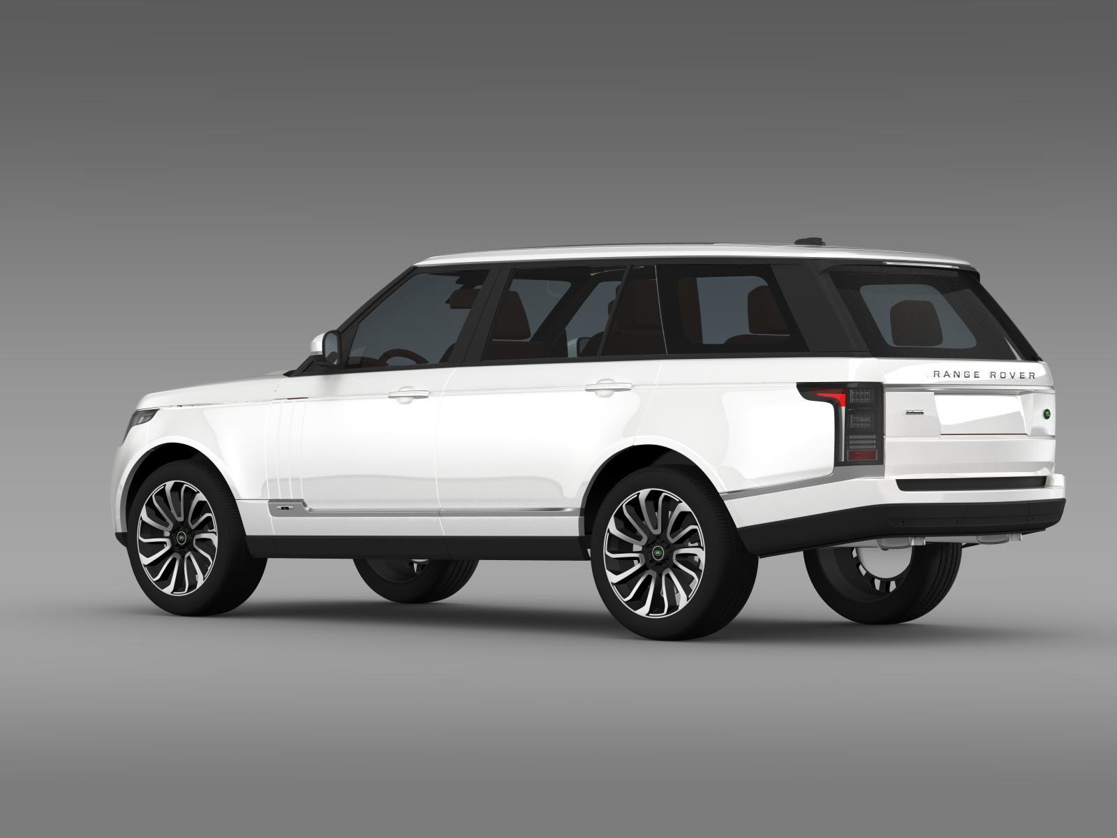 range rover autobiography lwb l405 2014 3d model buy range rover autobiography lwb l405 2014. Black Bedroom Furniture Sets. Home Design Ideas