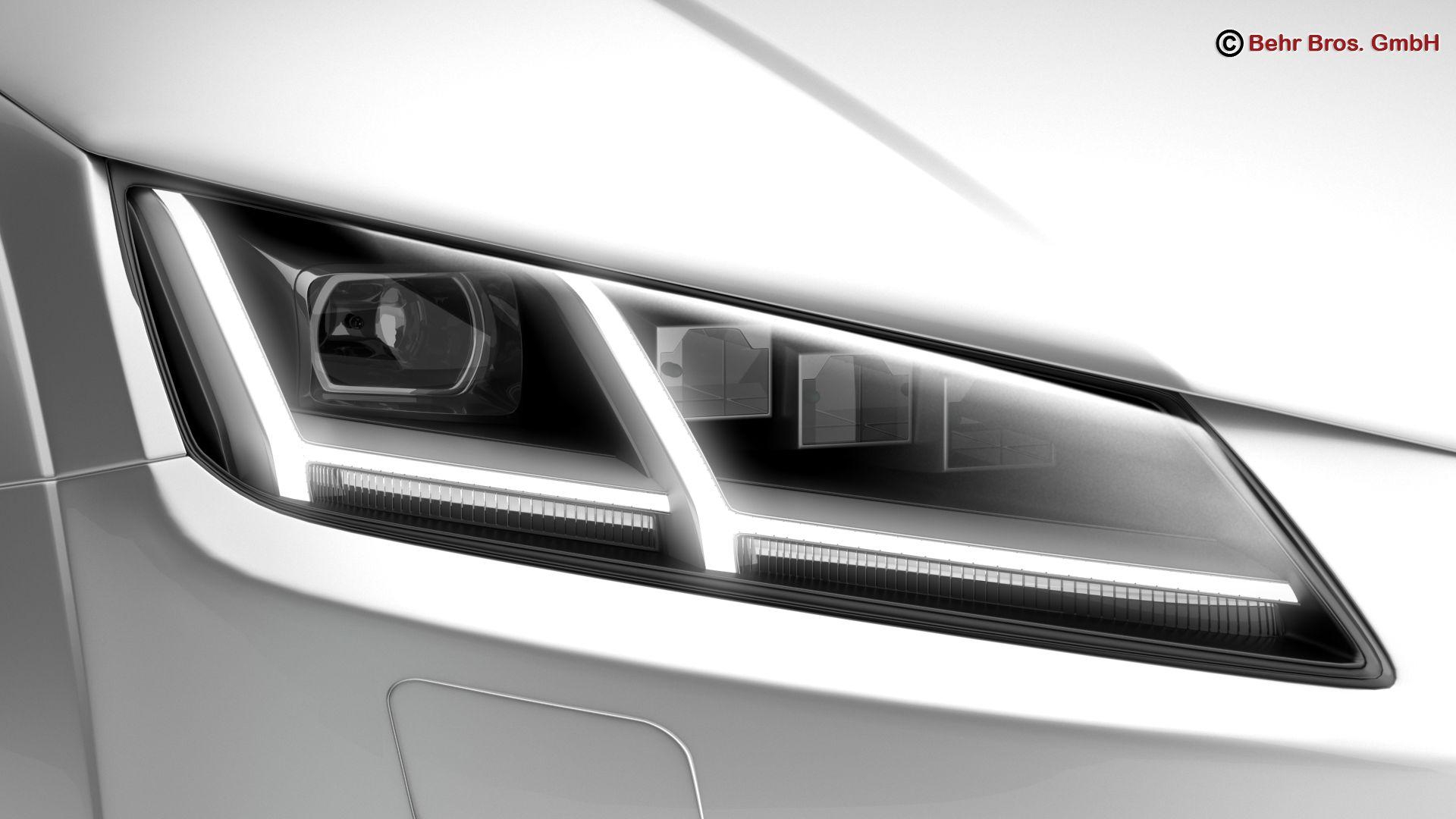 audi tt coupe 2015 3d model 3ds max fbx c4d lwo ma mb obj 203330