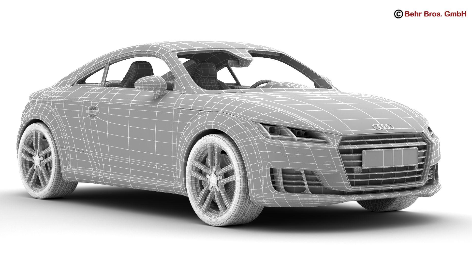 audi tt coupe 2015 3d model 3ds max fbx c4d lwo ma mb obj 203336