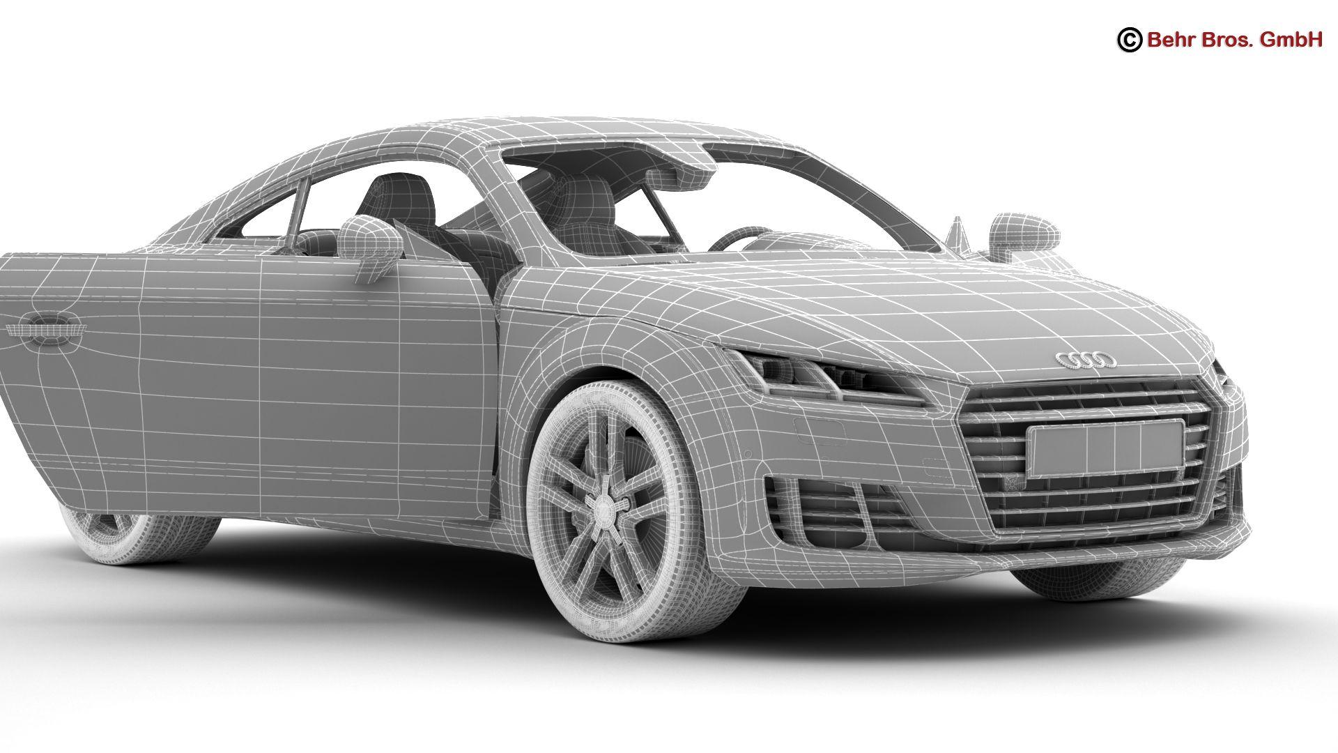 audi tt coupe 2015 3d model 3ds max fbx c4d lwo ma mb obj 203337