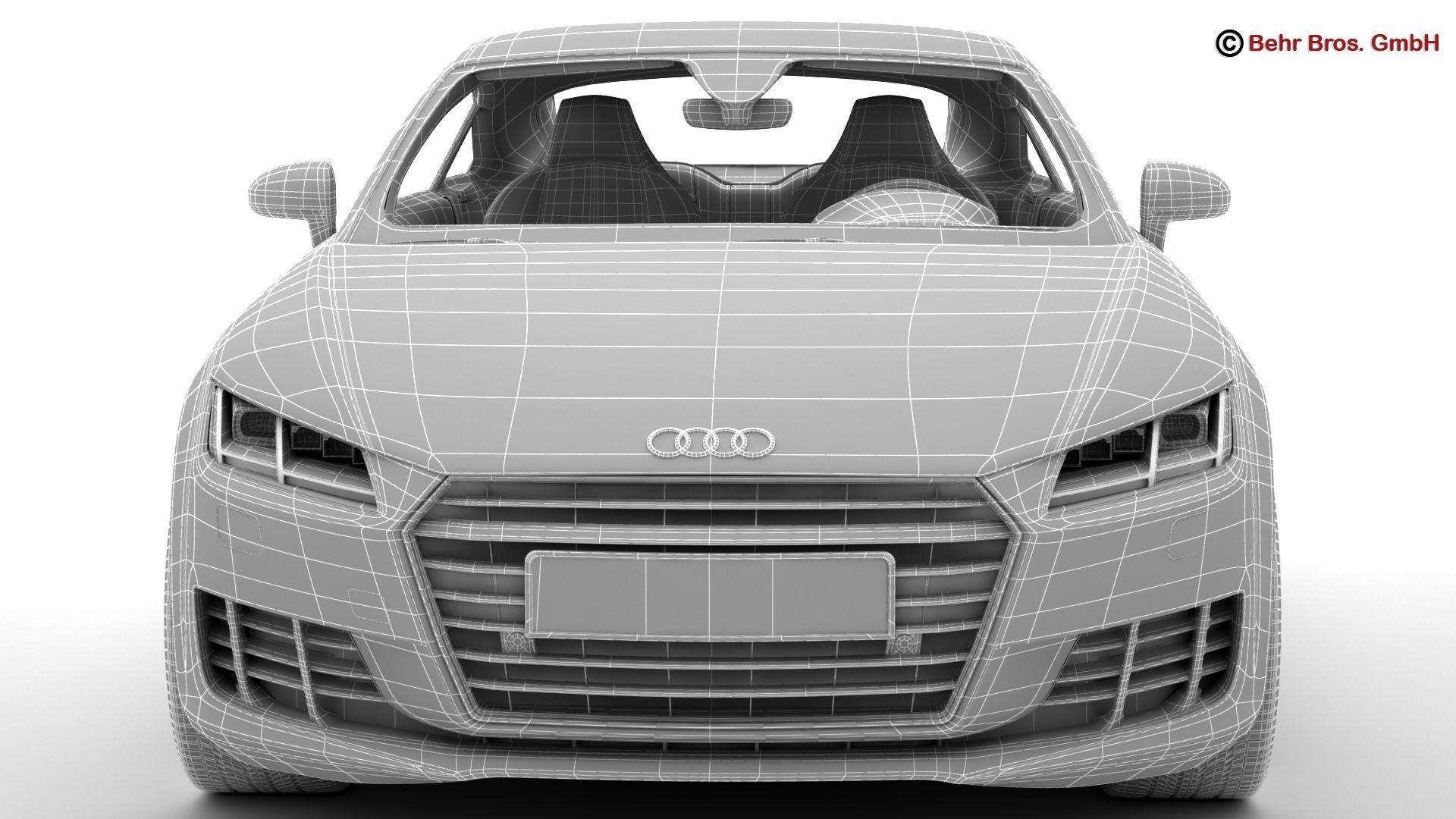 audi tt coupe 2015 3d model 3ds max fbx c4d lwo ma mb obj 203341