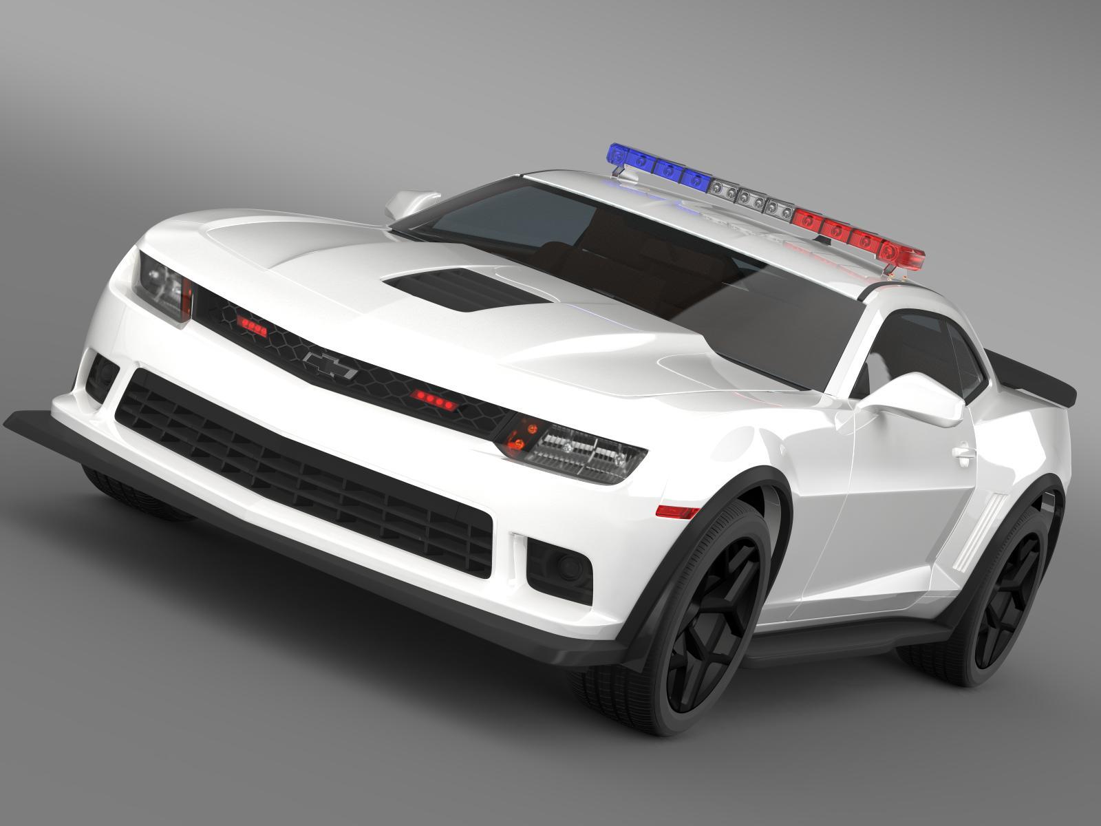 chevrolet camaro z28 policija 2015 3d model 3ds max fbx c4d
