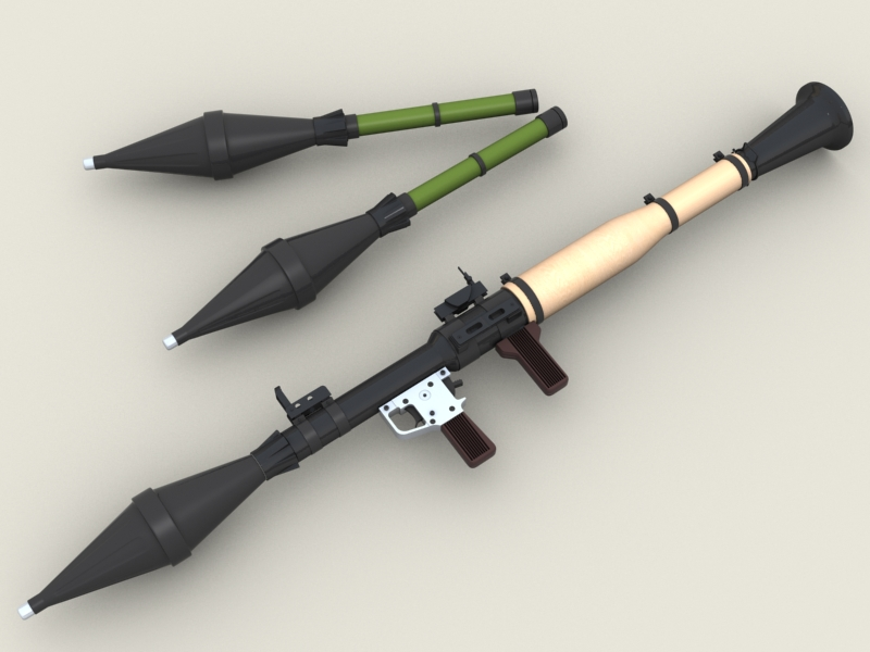 rpg 7 rocket launcher 3d model 3ds max fbx obj 203469