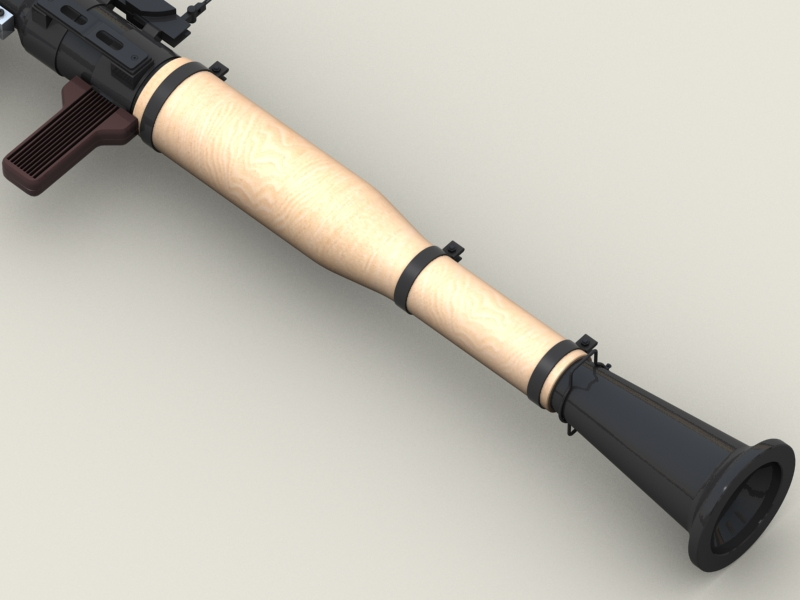 rpg 7 rocket launcher 3d model 3ds max fbx obj 203471