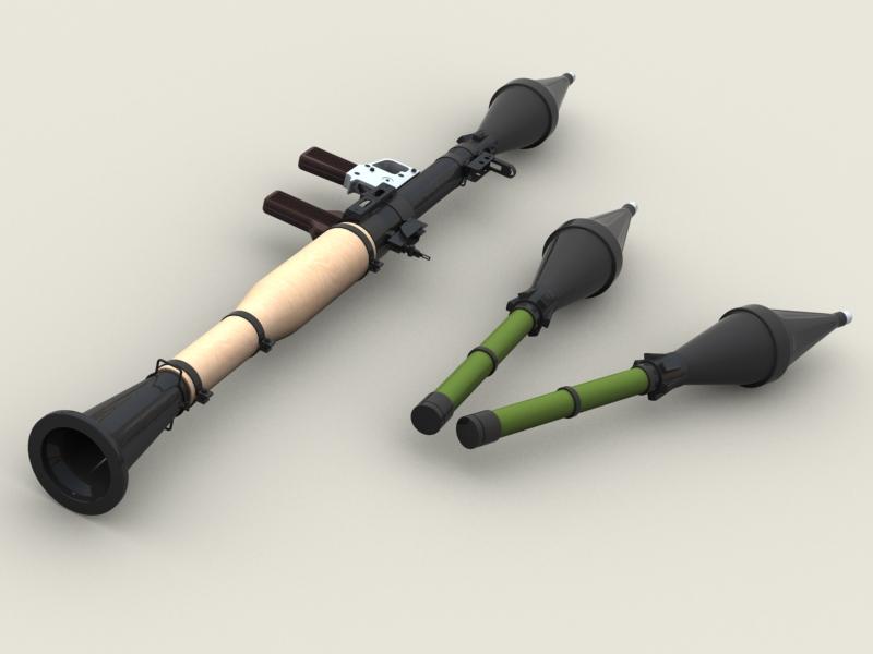 rpg 7 rocket launcher 3d model 3ds max fbx obj 203473