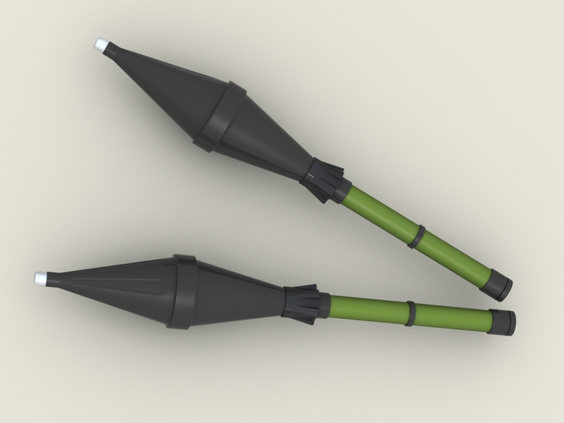 rpg 7 rocket launcher 3d model 3ds max fbx obj 203474