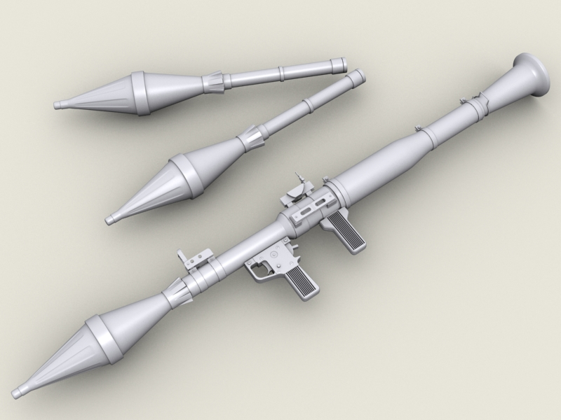 rpg 7 rocket launcher 3d model 3ds max fbx obj 203476
