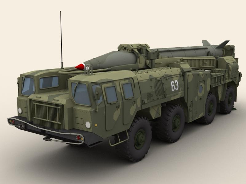 scud b missile launcher 3d model 3ds max dwg fbx obj 203480