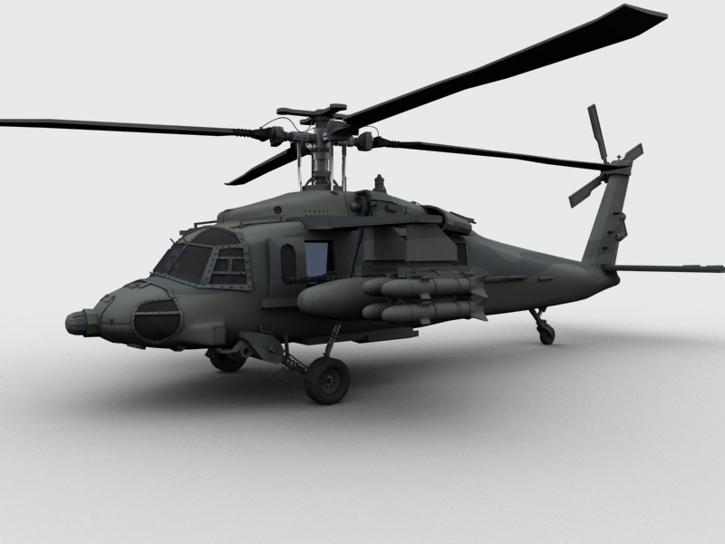 blackhawk helicopter 3d model max dwg fbx obj 203491