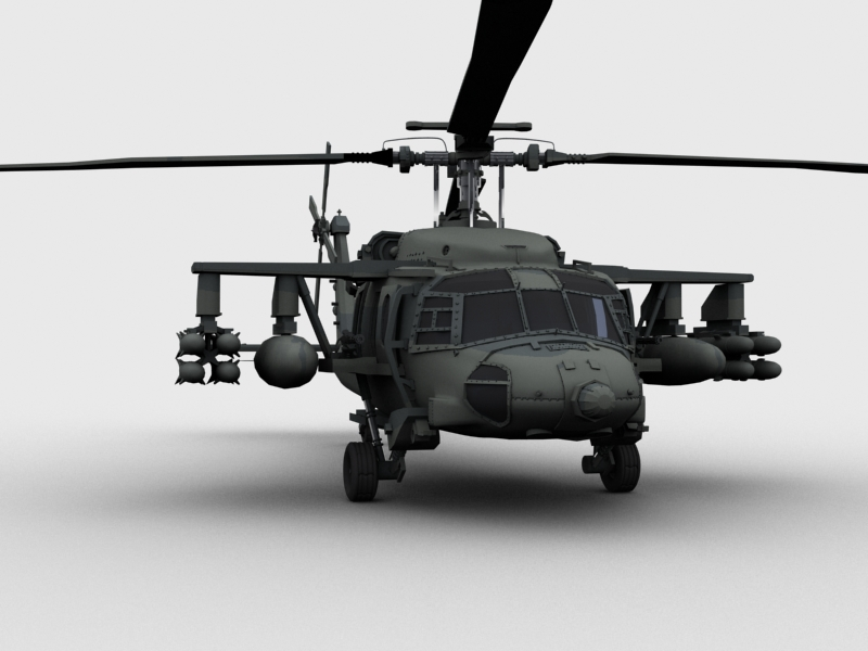blackhawk helicopter 3d model max dwg fbx obj 203492