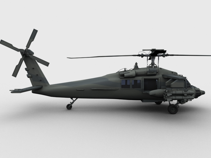 blackhawk helicopter 3d model max dwg fbx obj 203493