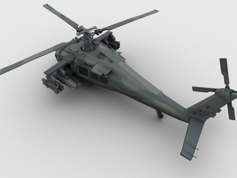 blackhawk helicopter 3d model max dwg fbx obj 203494