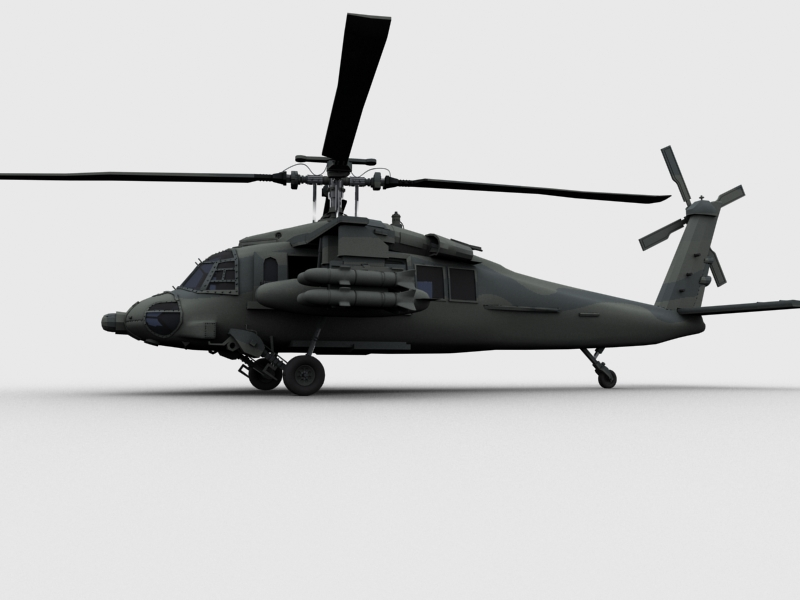 blackhawk helicopter 3d model max dwg fbx obj 203495