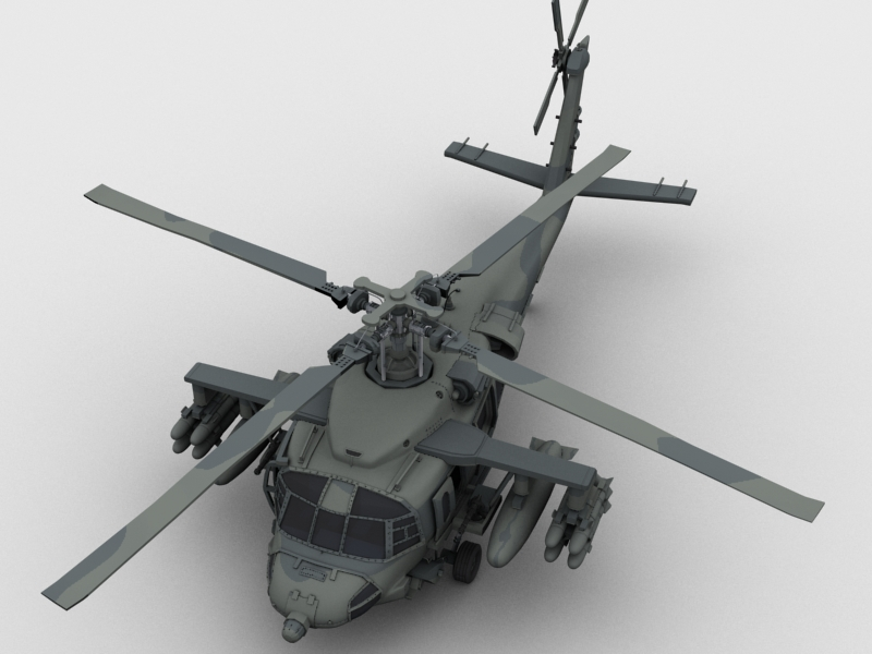 blackhawk helicopter 3d model max dwg fbx obj 203496