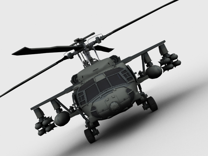 blackhawk helicopter 3d model max dwg fbx obj 203497