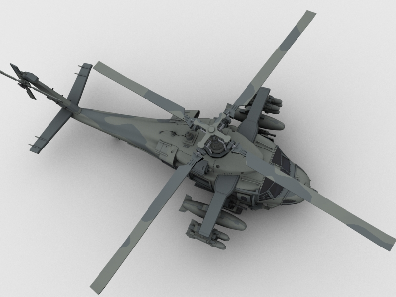 blackhawk helicopter 3d model max dwg fbx obj 203498