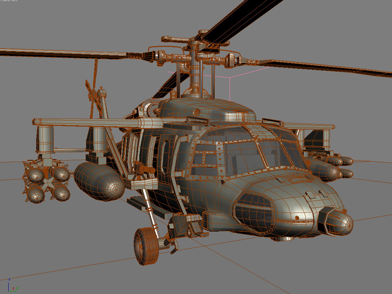 blackhawk helicopter 3d model max dwg fbx obj 203499