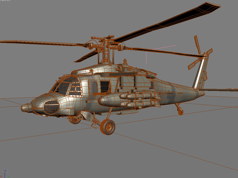 blackhawk helicopter 3d model max dwg fbx obj 203500