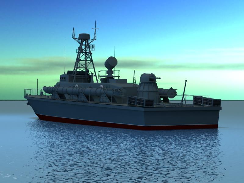 cwch torpido model 3d 3ds max fbx obj 203506