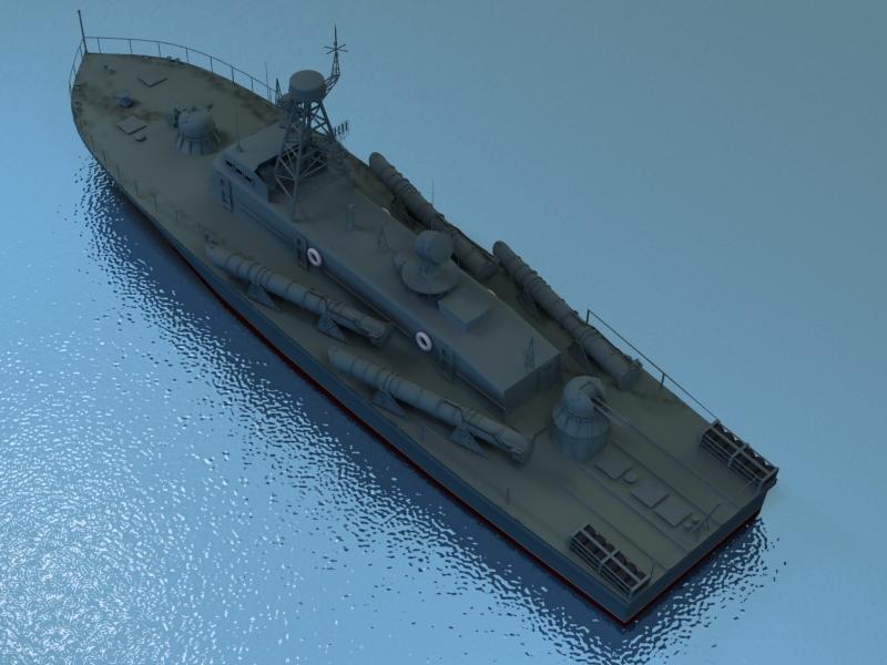 cwch torpido model 3d 3ds max fbx obj 203507