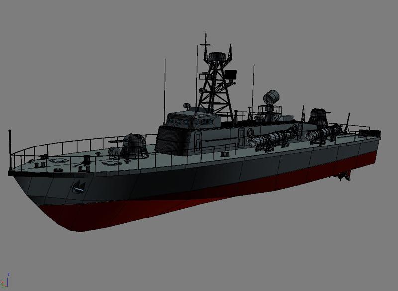 cwch torpido model 3d 3ds max fbx obj 203508