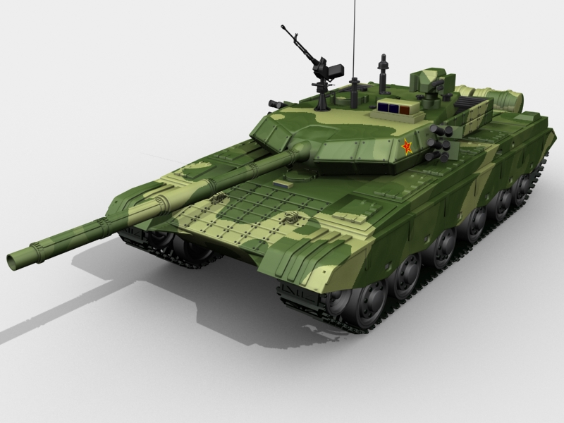chinese ztz 99 mbt 3d model 3ds max fbx obj 203510
