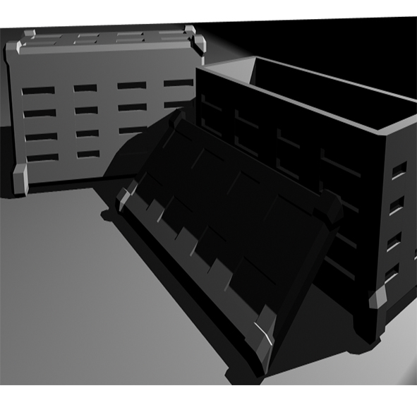 crate 3d model ma mb 203518