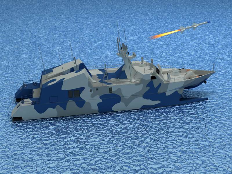 type 022 fast attack missile craft 3d model 3ds max fbx obj 203521