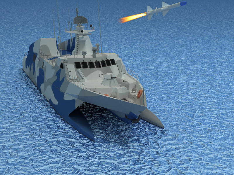 type 022 fast attack missile craft 3d model 3ds max fbx obj 203522