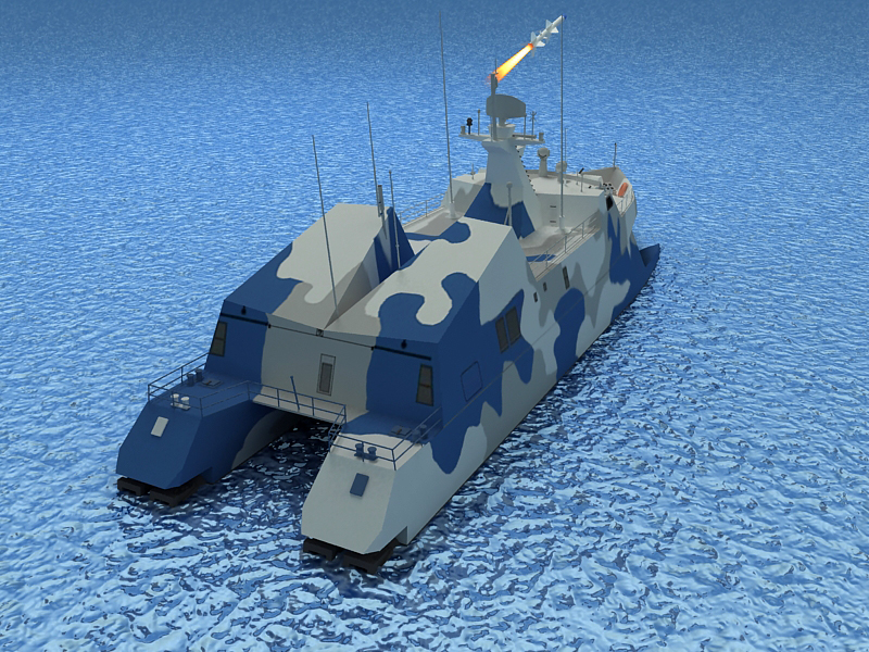 type 022 fast attack missile craft 3d model 3ds max fbx obj 203523