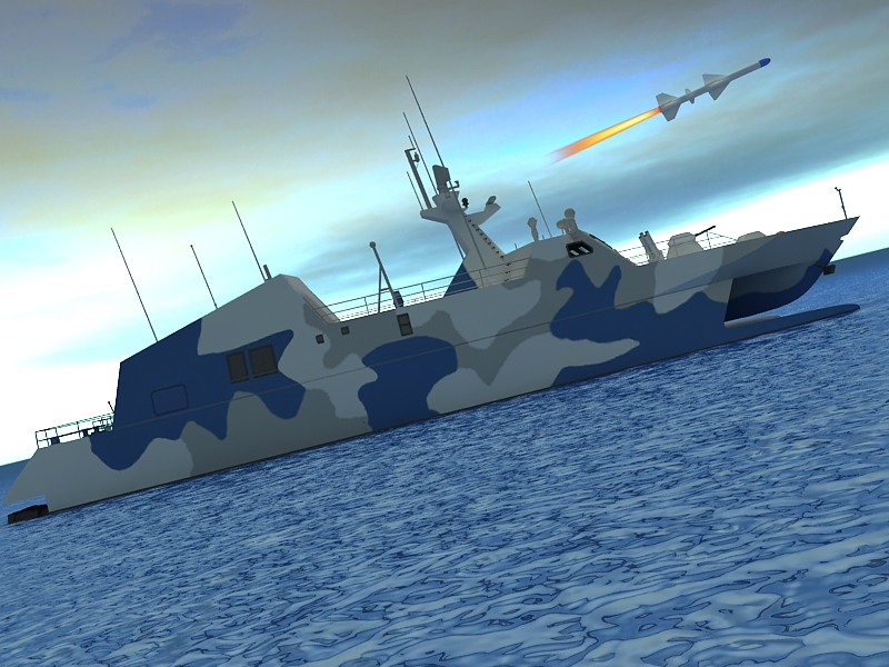 type 022 fast attack missile craft 3d model 3ds max fbx obj 203524