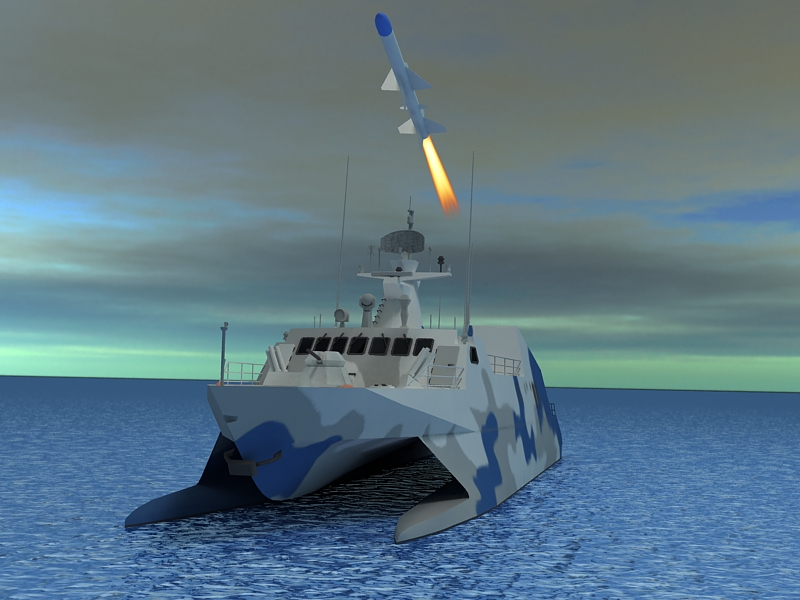type 022 fast attack missile craft 3d model 3ds max fbx obj 203525