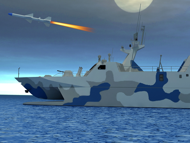 type 022 fast attack missile craft 3d model 3ds max fbx obj 203526