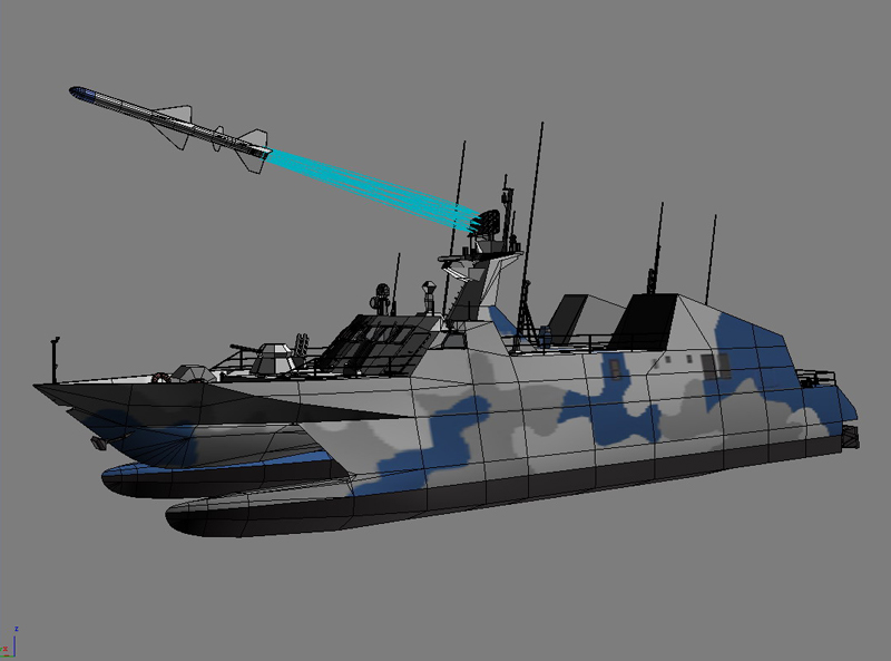 type 022 fast attack missile craft 3d model 3ds max fbx obj 203527
