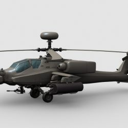 Apache Helicopter 3d model 0