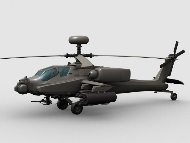 the boeing apache helicopter 3d model 3ds max fbx obj 203547