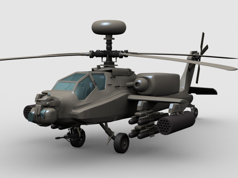 Apache Helicopter ( 186.9KB jpg by GMichael )