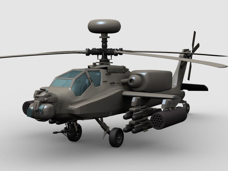 az apache helikopter 3d modell 3ds max fbx obj 203548