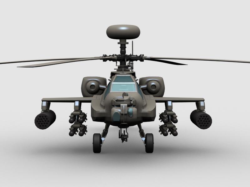 az apache helikopter 3d modell 3ds max fbx obj 203550