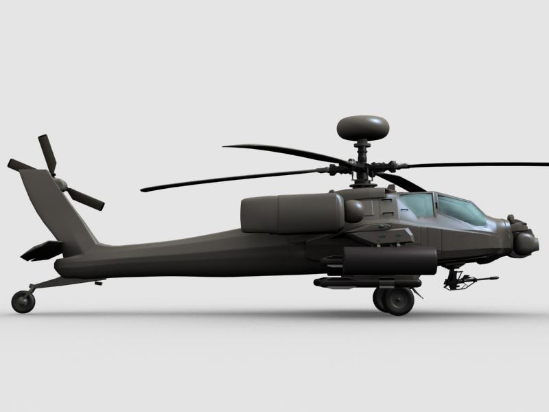 az apache helikopter 3d modell 3ds max fbx obj 203551