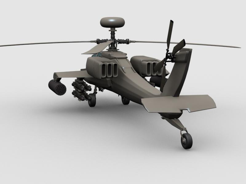 az apache helikopter 3d modell 3ds max fbx obj 203552