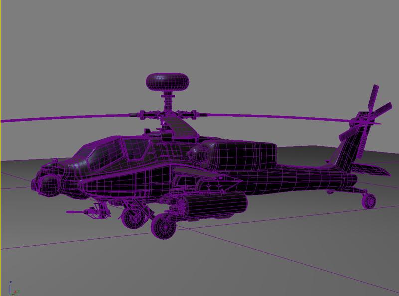 az apache helikopter 3d modell 3ds max fbx obj 203553