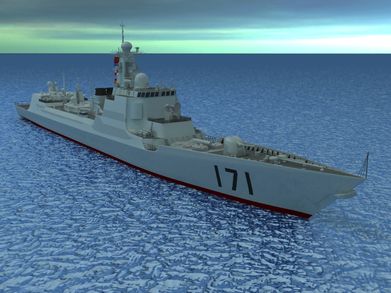 kineska mornarica ddg-171 model 3d 3ds max fbx obj 203556