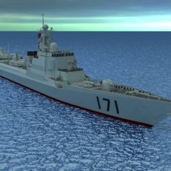 Chinese Navy DDG-171 3d model 0
