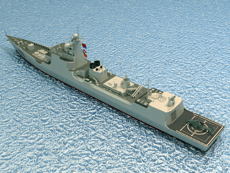 БНХАУ-ын усан цэргийн ddg-171 3d загвар 3ds max fbx obj 203557