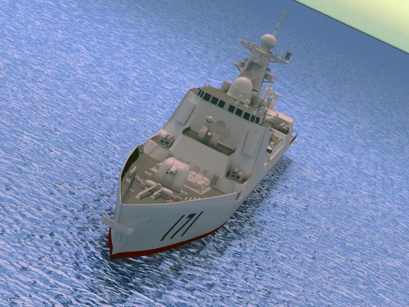БНХАУ-ын усан цэргийн ddg-171 3d загвар 3ds max fbx obj 203558