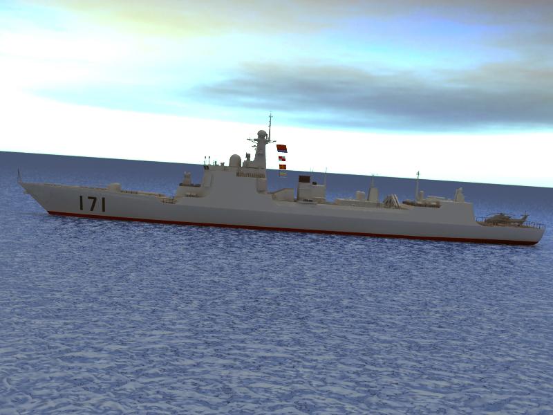 БНХАУ-ын усан цэргийн ddg-171 3d загвар 3ds max fbx obj 203559