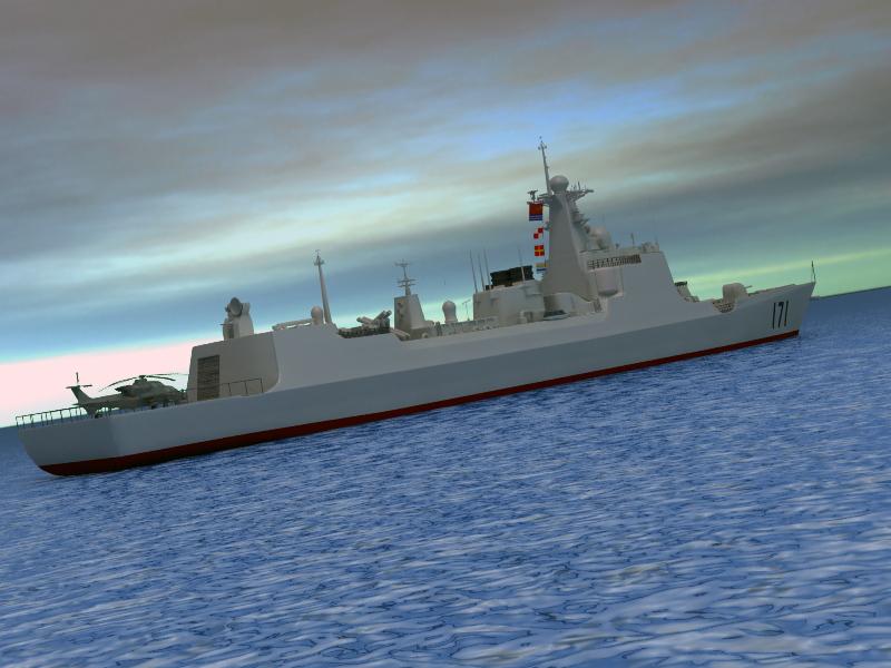 БНХАУ-ын усан цэргийн ddg-171 3d загвар 3ds max fbx obj 203561