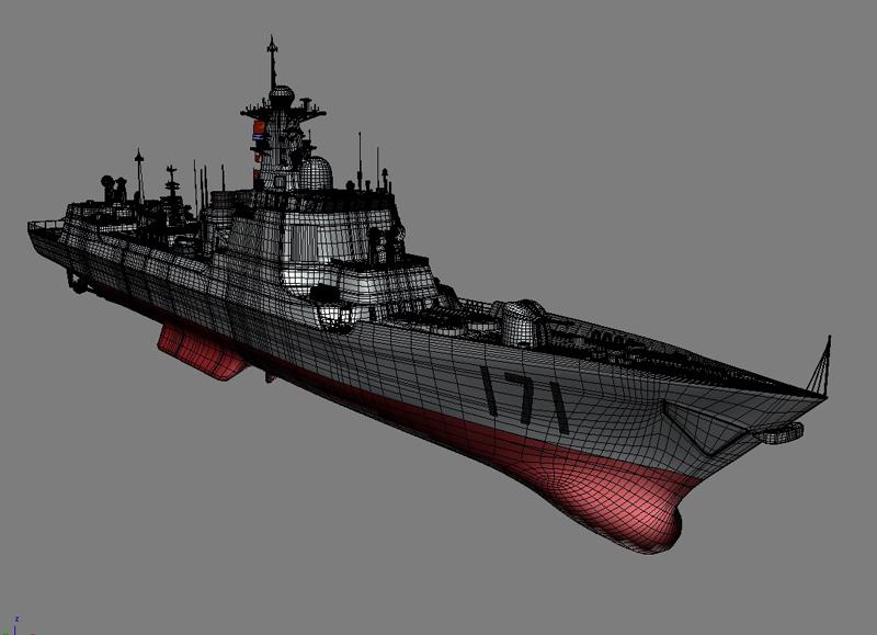 БНХАУ-ын усан цэргийн ddg-171 3d загвар 3ds max fbx obj 203563