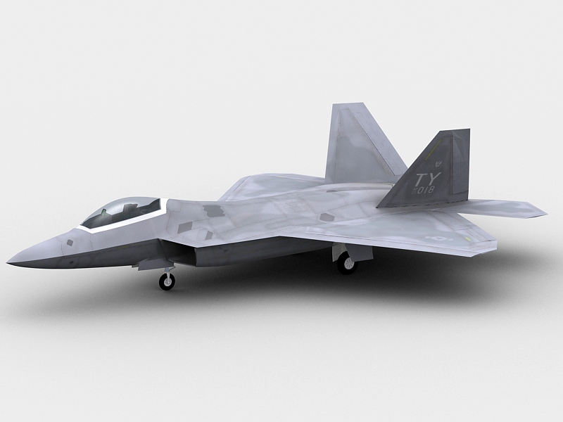 f22 a raptor 3d model 3ds max fbx obj 203574